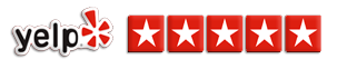 Over 300+ Five-Star Reviews on Yelp!