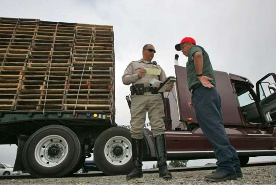 Commercial truck driver tickets and violations